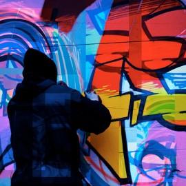 Spray graffiti